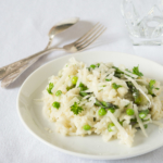 risotto broad beans and peas from More Than Just Carrots